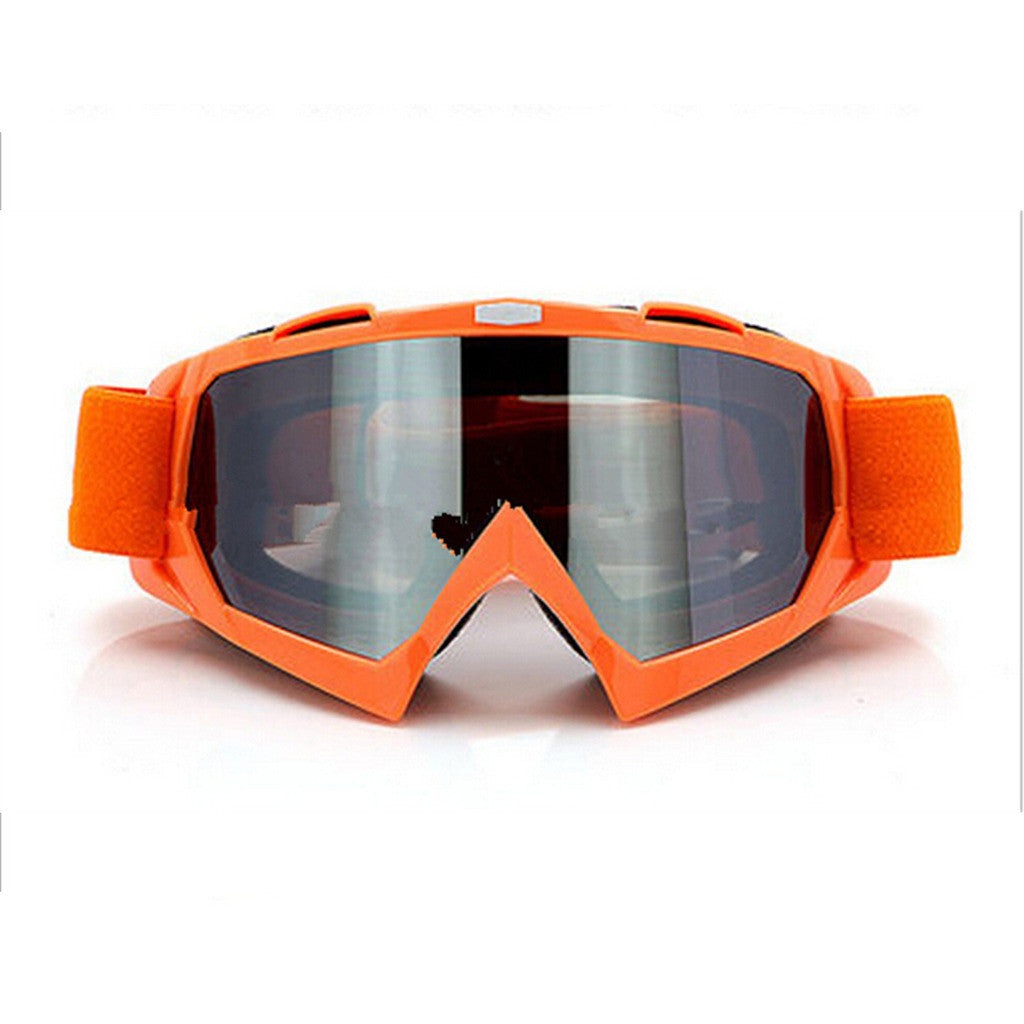 Adult Colourful double Lens Snow Ski Snowboard Goggles Motocross Anti-Fog Fashion Eye Protection Orange Silver - Mega Save Wholesale & Retail
