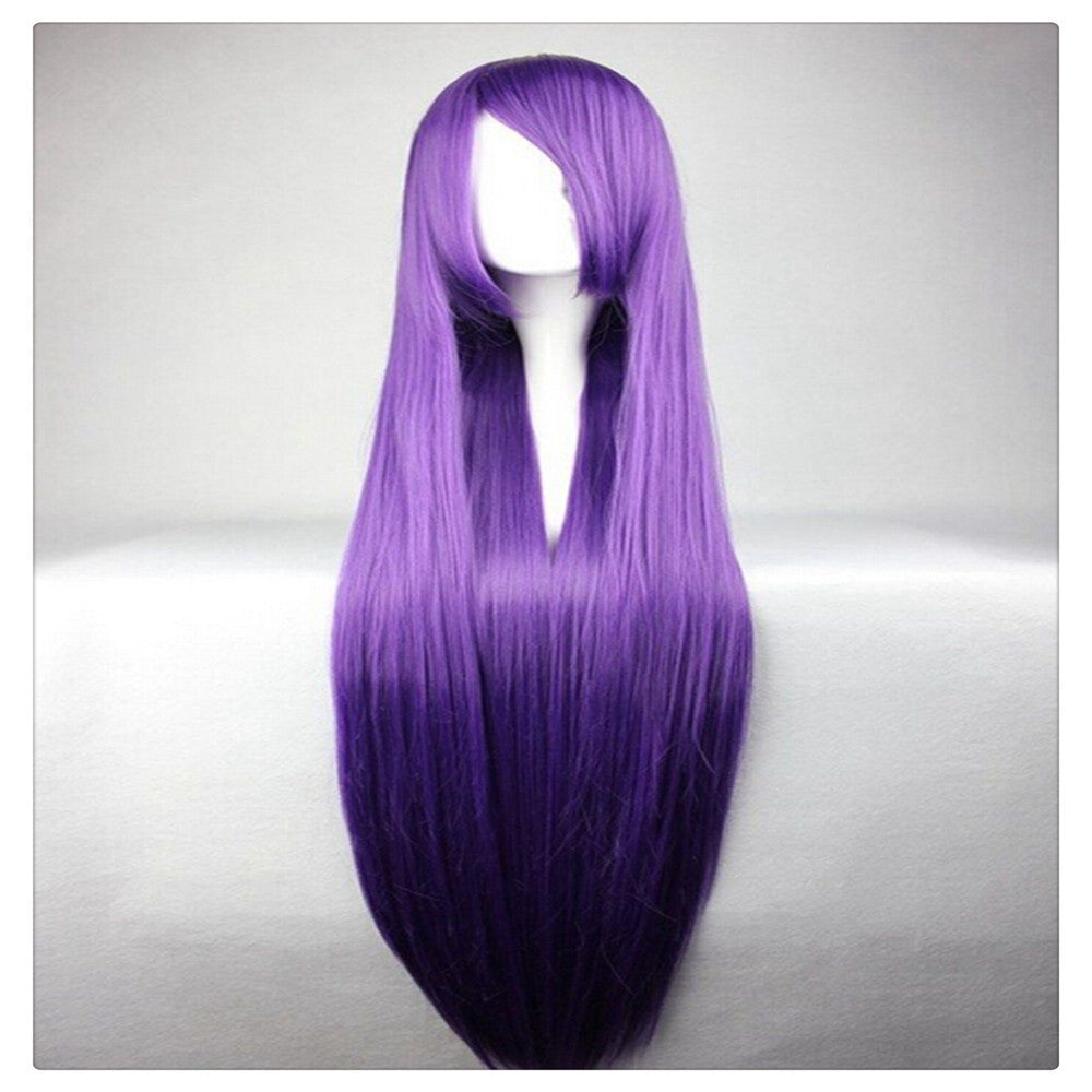 "Women Fashion 100CM/39"" Long straight Cosplay Fashion Wig heat resistant resistant Hair Full Wigs  Deep purple - Mega Save Wholesale & Retail"