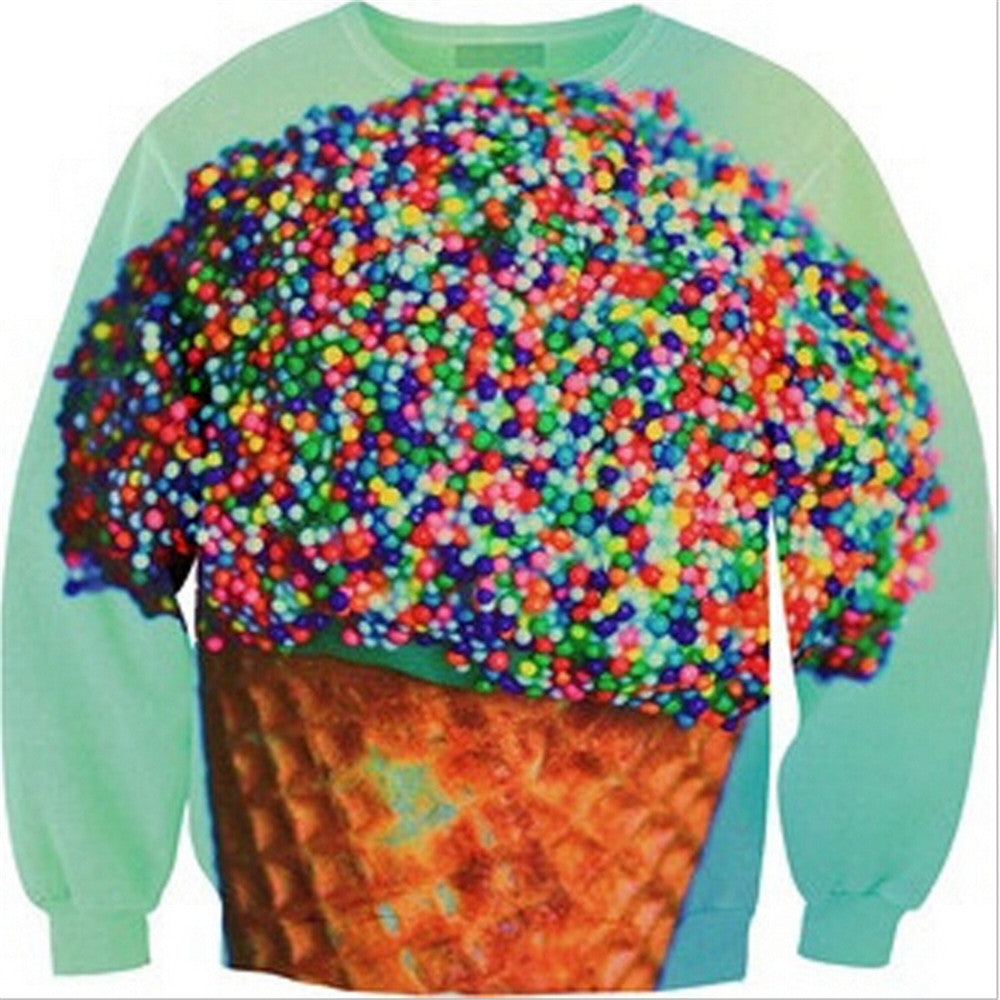 Womens Mens 3D Print Realistic Space Galaxy Animals Hoodie Sweatshirt Top Jumper Cone - Mega Save Wholesale & Retail