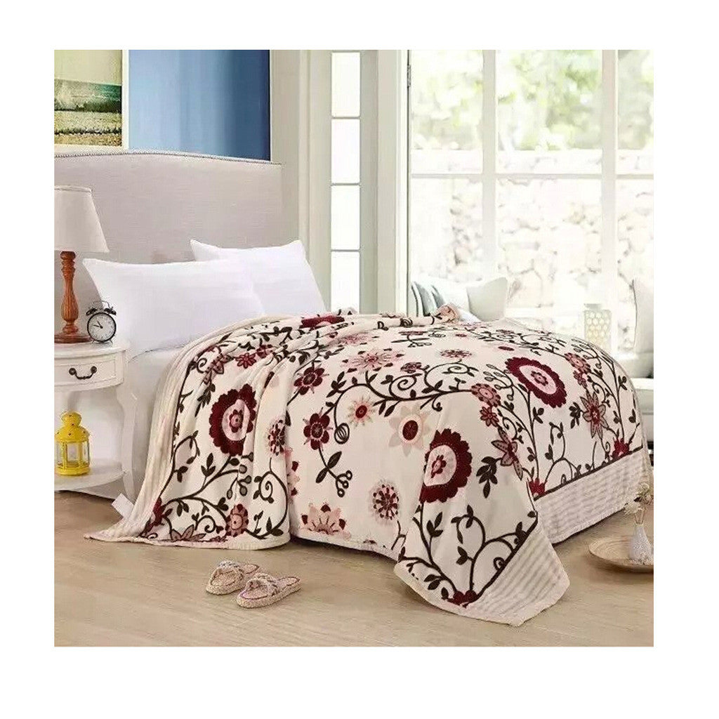 Two-side Blanket Bedding Throw Coral fleece Super Soft Warm Value  26 - Mega Save Wholesale & Retail