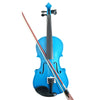 Student Acoustic Violin Full 1/8 Maple Spruce with Case Bow Rosin Blue Color - Mega Save Wholesale & Retail