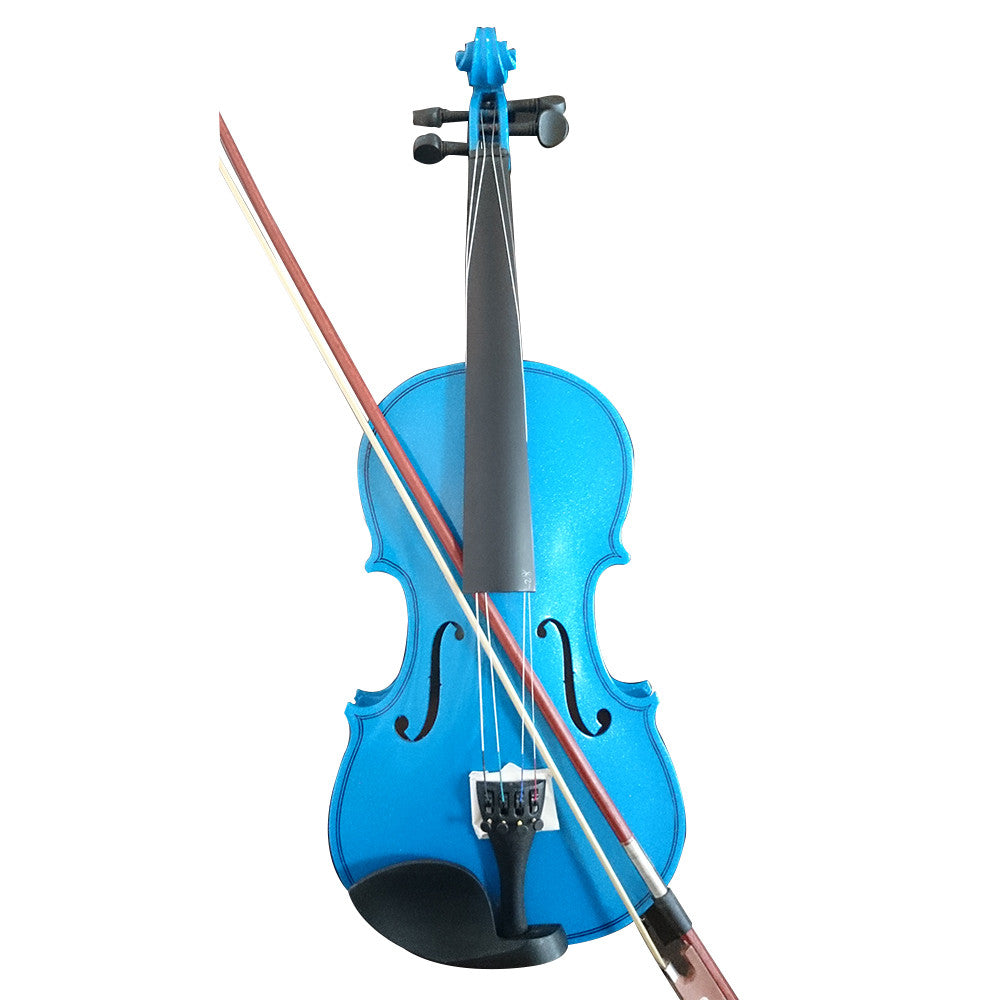 Student Acoustic Violin Full 1/4 Maple Spruce with Case Bow Rosin Blue Color - Mega Save Wholesale & Retail
