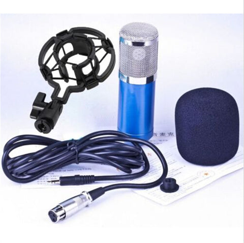 Professional Condenser Cardioid Recording Microphone 4 Broadcast Studio Computer Blue - Mega Save Wholesale & Retail