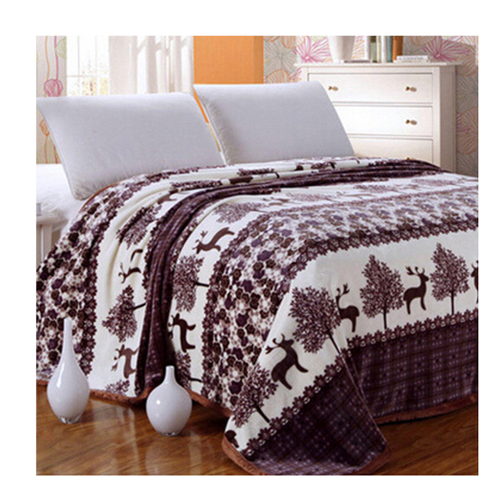 Two-side Blanket Bedding Throw Coral fleece Super Soft Warm Value 180cm 12 - Mega Save Wholesale & Retail