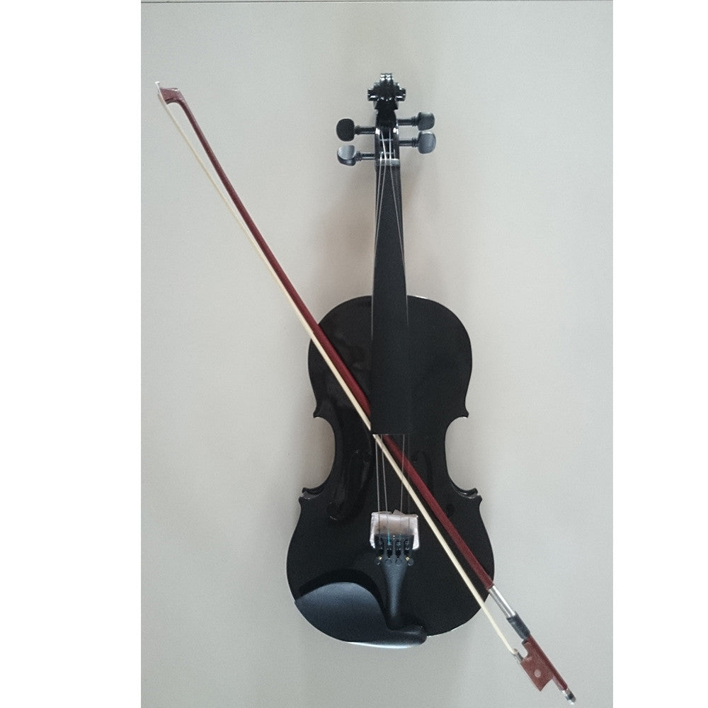 Student Acoustic Violin Full 1/4 Maple Spruce with Case Bow Rosin Black Color - Mega Save Wholesale & Retail
