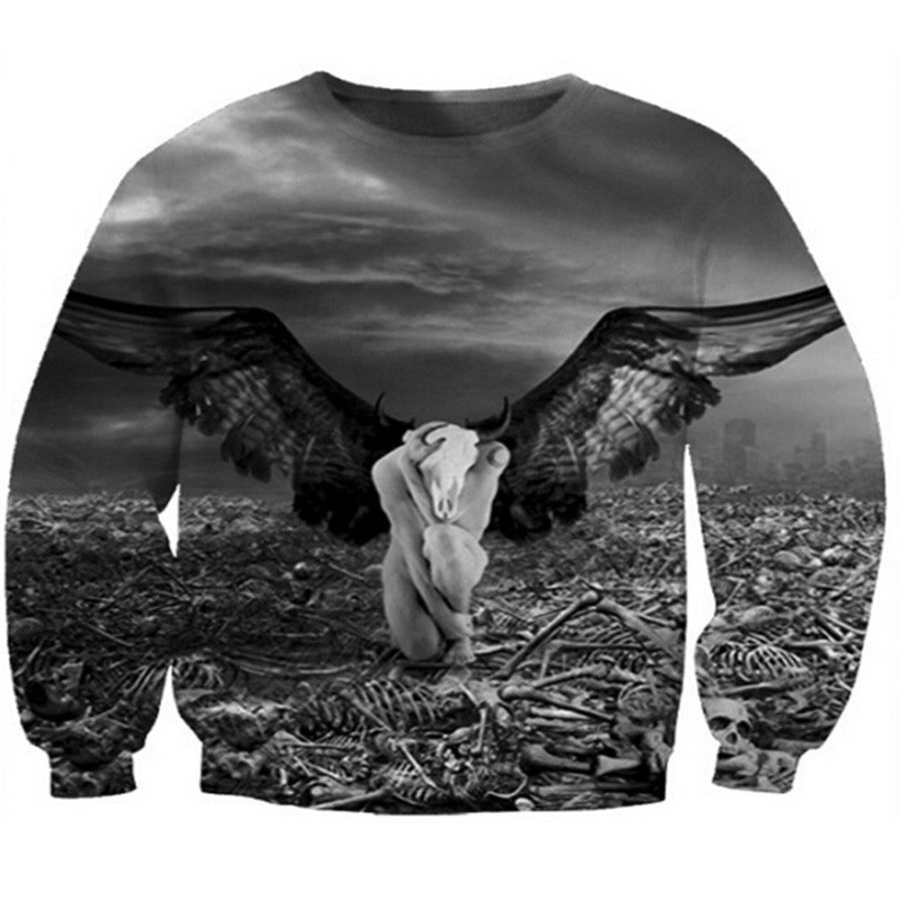 Womens Mens 3D Print Realistic Space Galaxy Animals Hoodie Sweatshirt Top Jumper eagle - Mega Save Wholesale & Retail