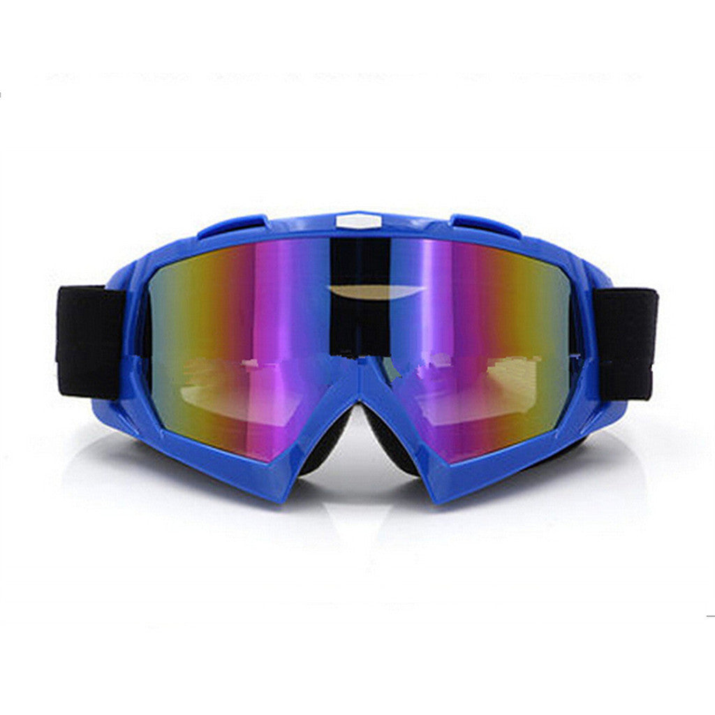 Adult Colourful double Lens Snow Ski Snowboard Goggles Motocross Anti-Fog Fashion Eye Protection Blue Colourful - Mega Save Wholesale & Retail