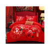 Bed Quilt Duvet Sheet Cover 4PC Set Upscale Cotton Sanded simple but elegant  010 - Mega Save Wholesale & Retail