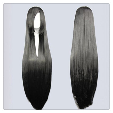 "Women Fashion 100CM/39"" Long straight Cosplay Fashion Wig heat resistant resistant Hair Full Wigs   Black - Mega Save Wholesale & Retail"