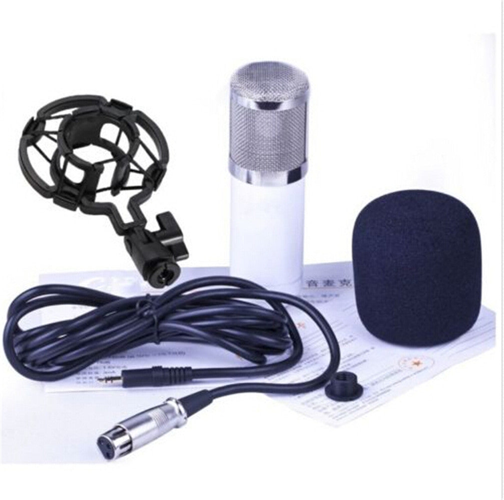 Professional Condenser Cardioid Recording Microphone 4 Broadcast Studio Computer White - Mega Save Wholesale & Retail