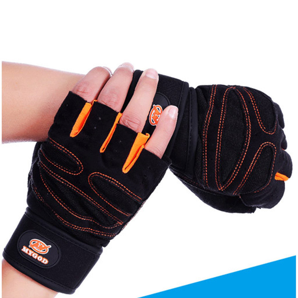 Weight Lifting Gym Gloves Training Fitness Antislip Wareproof Wrist Wrap Workout Exercise Gaming 3 Color In Pair - Mega Save Wholesale & Retail - 3