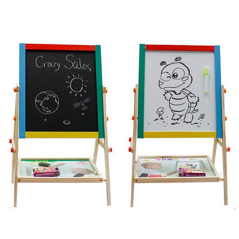2 In 1 blackboard and whiteboard Children's Paint & Drawing Artist Easel - Mega Save Wholesale & Retail