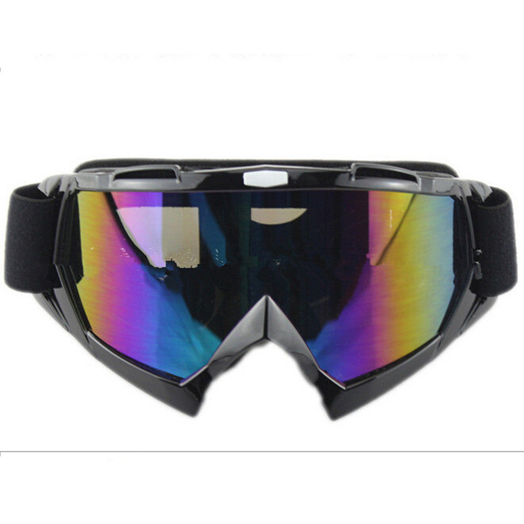 Adult Colourful double Lens Snow Ski Snowboard Goggles Motocross Anti-Fog Fashion Eye Protection Black Colourful - Mega Save Wholesale & Retail