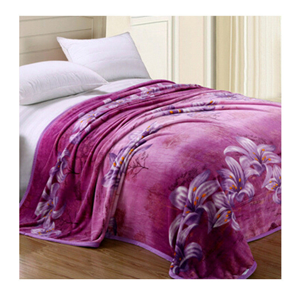 Two-side Blanket Bedding Throw Coral fleece Super Soft Warm Value 180cm 02 - Mega Save Wholesale & Retail