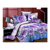 3D Flower Queen King Size Bed Quilt/Duvet Sheet Cover 4PC Set Cotton Sanded 008 - Mega Save Wholesale & Retail
