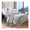 Clipped Pattern Blanket Bedding Throw Fleece Super Soft Warm Value cut green - Mega Save Wholesale & Retail
