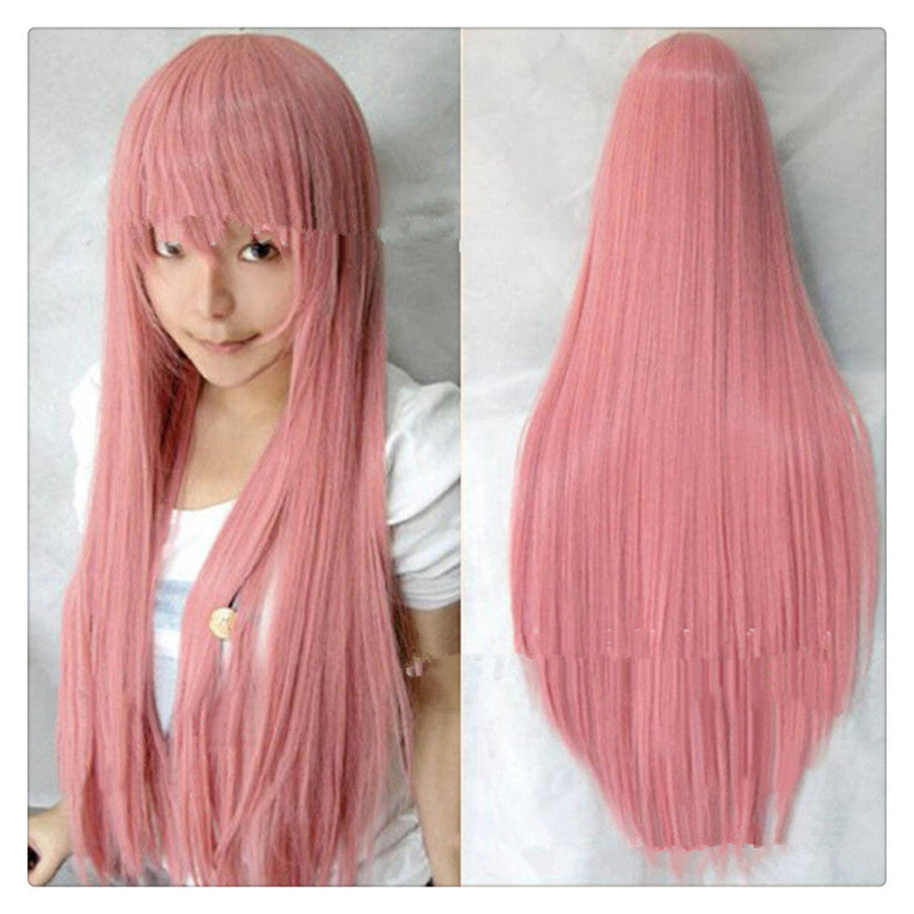 "Women Fashion 100CM/39"" Long straight Cosplay Fashion Wig heat resistant resistant Hair Full Wigs   Sakura powder - Mega Save Wholesale & Retail"