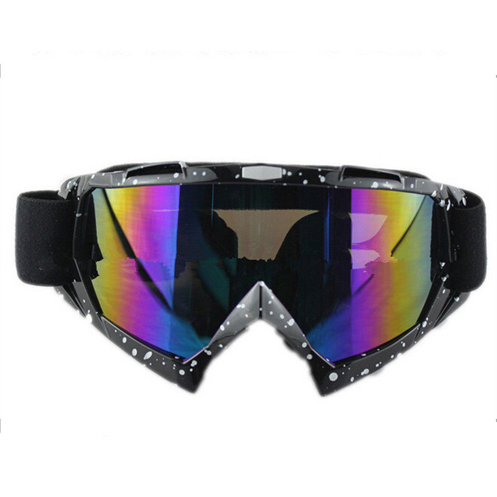 Adult Colourful double Lens Snow Ski Snowboard Goggles Motocross Anti-Fog Fashion Eye Protection Black and White Colourful - Mega Save Wholesale & Retail