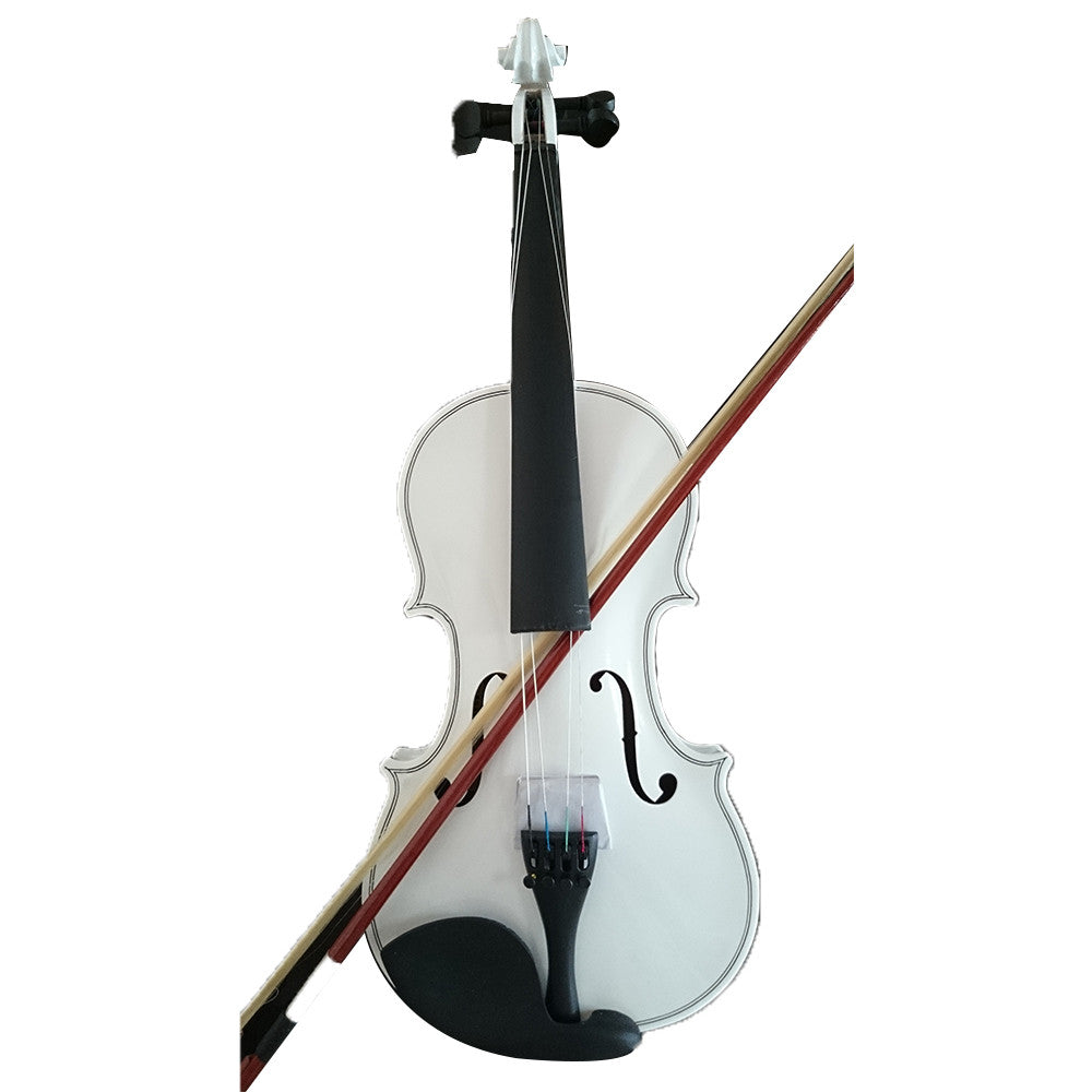 Student Acoustic Violin Full 1/2 Maple Spruce with Case Bow Rosin White Color - Mega Save Wholesale & Retail