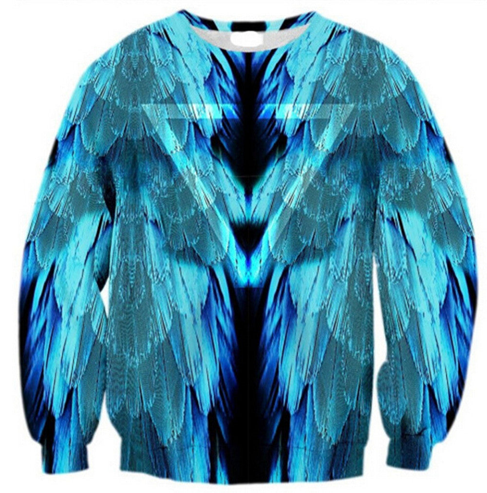 Womens Mens 3D Print Realistic Space Galaxy Animals Hoodie Sweatshirt Top Jumper wing - Mega Save Wholesale & Retail