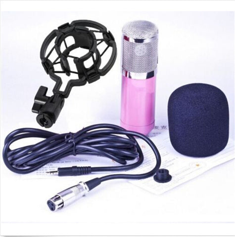 Professional Condenser Cardioid Recording Microphone 4 Broadcast Studio Computer Pink - Mega Save Wholesale & Retail