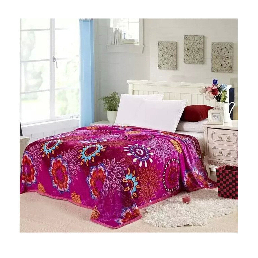 Two-side Blanket Bedding Throw Coral fleece Super Soft Warm Value  19 - Mega Save Wholesale & Retail