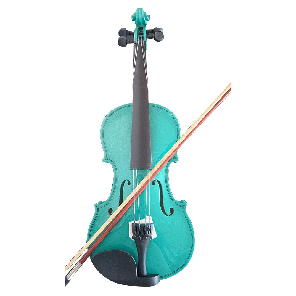 Student Acoustic Violin Full 3/4 Maple Spruce with Case Bow Rosin Green Color - Mega Save Wholesale & Retail