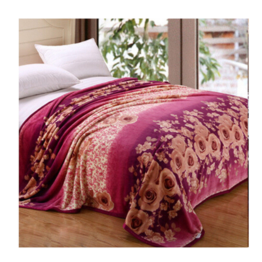 Two-side Blanket Bedding Throw Coral fleece Super Soft Warm Value  13 - Mega Save Wholesale & Retail