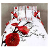 Cotton Active floral 3D printing Quilt Duvet Sheet Cover Sets 4PC Set 02 - Mega Save Wholesale & Retail