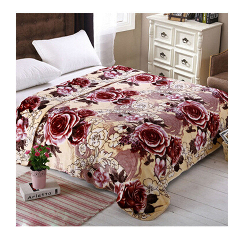 Two-side Blanket Bedding Throw Coral fleece Super Soft Warm Value  01 - Mega Save Wholesale & Retail