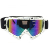 Adult Colourful double Lens Snow Ski Snowboard Goggles Motocross Anti-Fog Fashion Eye Protection White and Black Colourful - Mega Save Wholesale & Retail