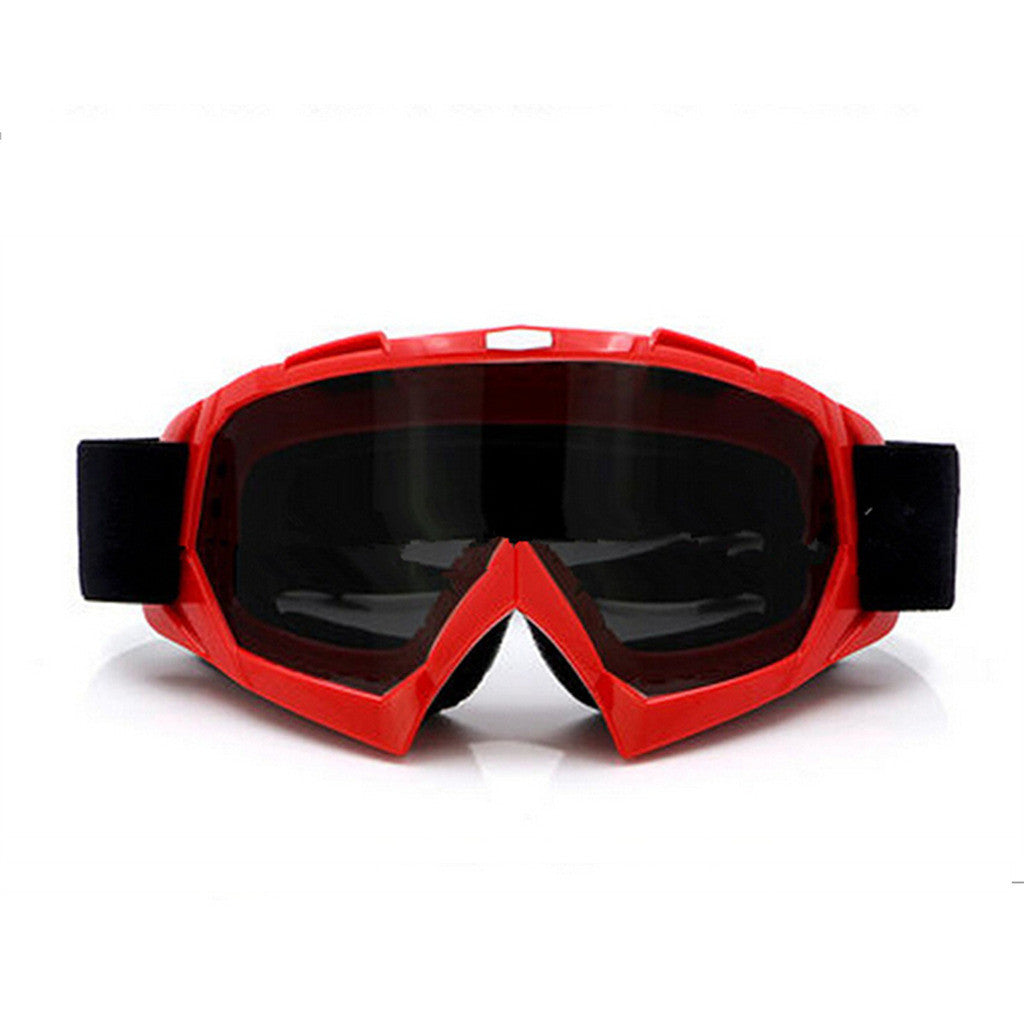 Adult Colourful double Lens Snow Ski Snowboard Goggles Motocross Anti-Fog Fashion Eye Protection Red Tea - Mega Save Wholesale & Retail