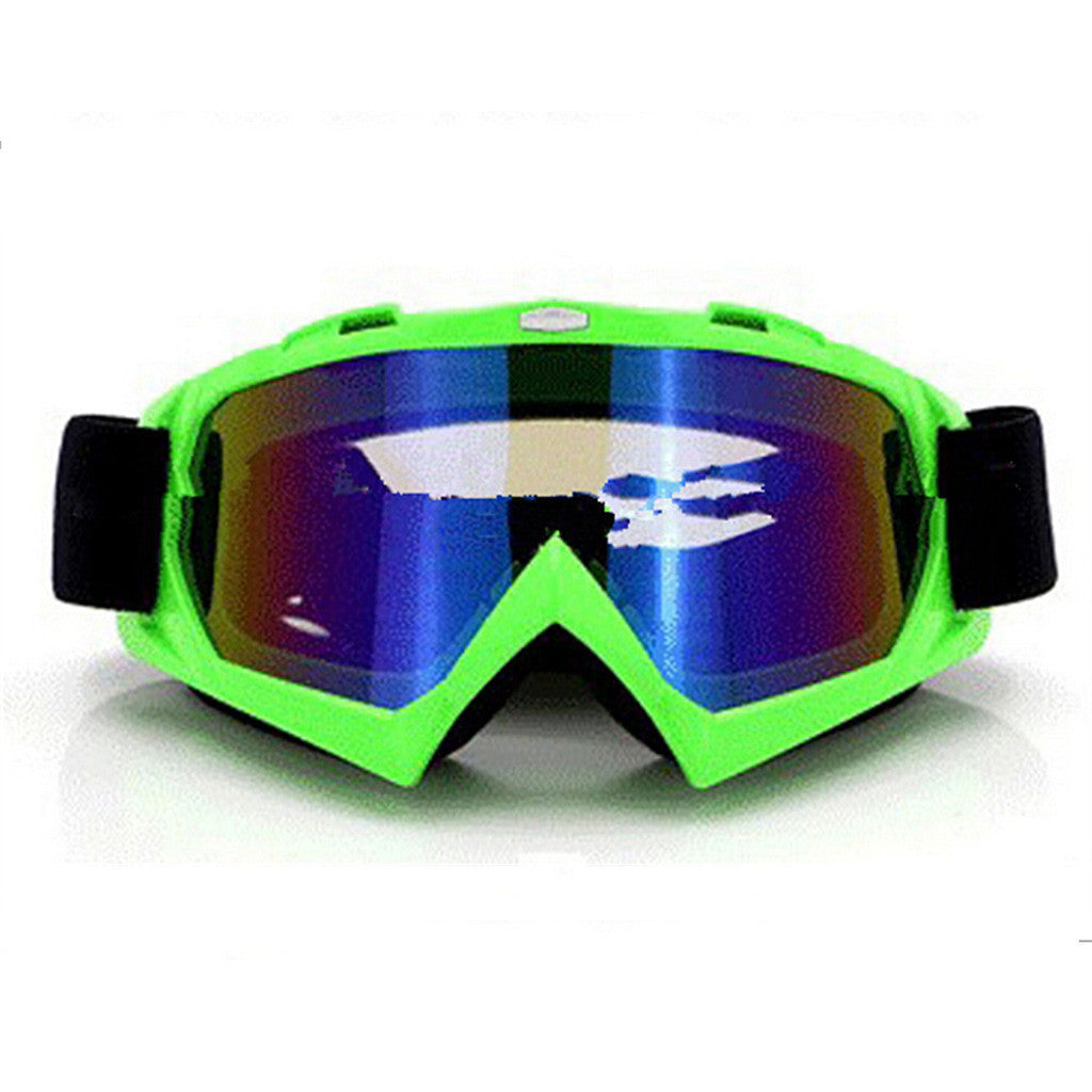 Adult Colourful double Lens Snow Ski Snowboard Goggles Motocross Anti-Fog Fashion Eye Protection Green Colourful - Mega Save Wholesale & Retail
