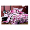 3D Flower Queen King Size Bed Quilt/Duvet Sheet Cover 4PC Set Cotton Sanded 007 - Mega Save Wholesale & Retail