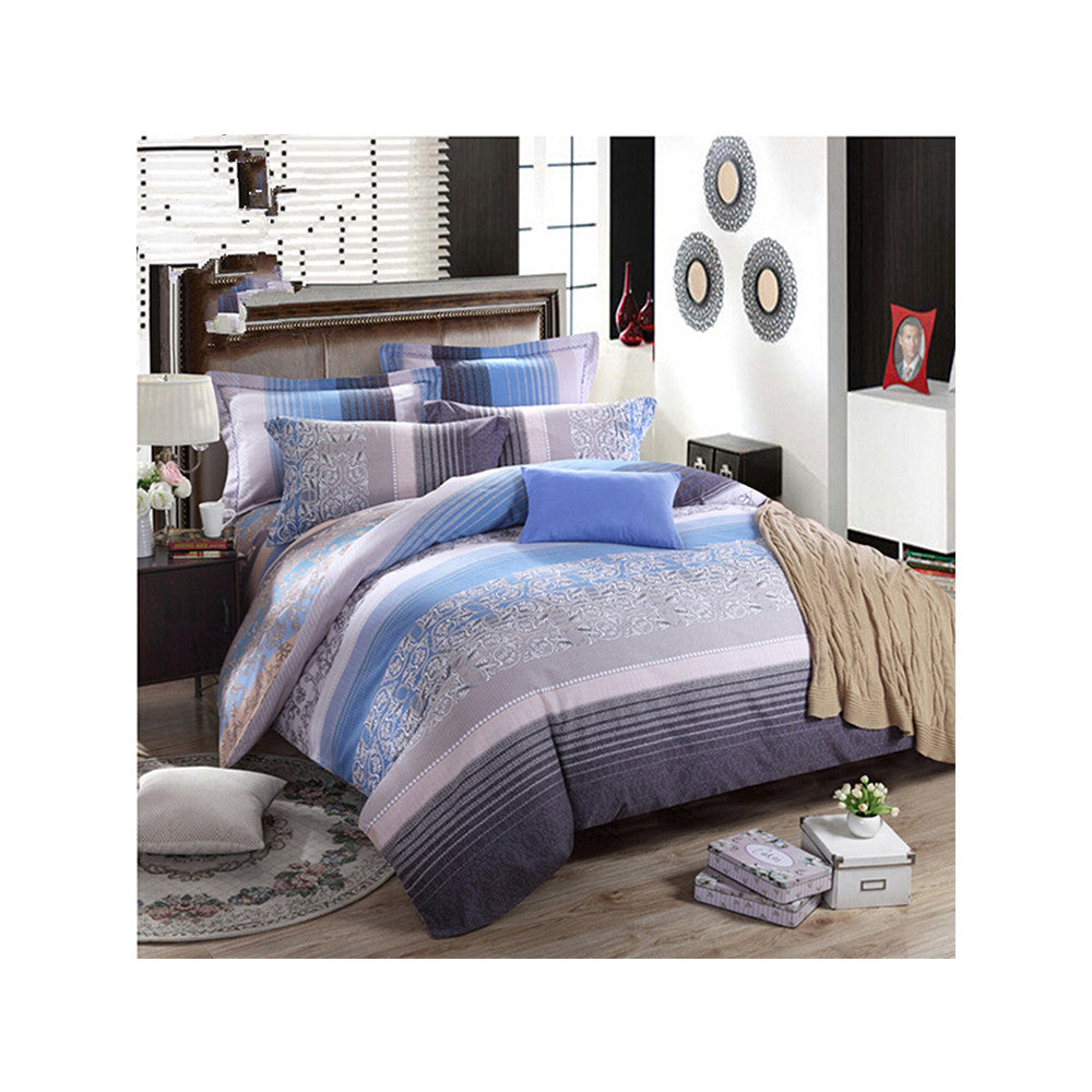 Bed Quilt Duvet Sheet Cover 4PC Set Upscale Cotton Sanded simple but elegant  011 - Mega Save Wholesale & Retail
