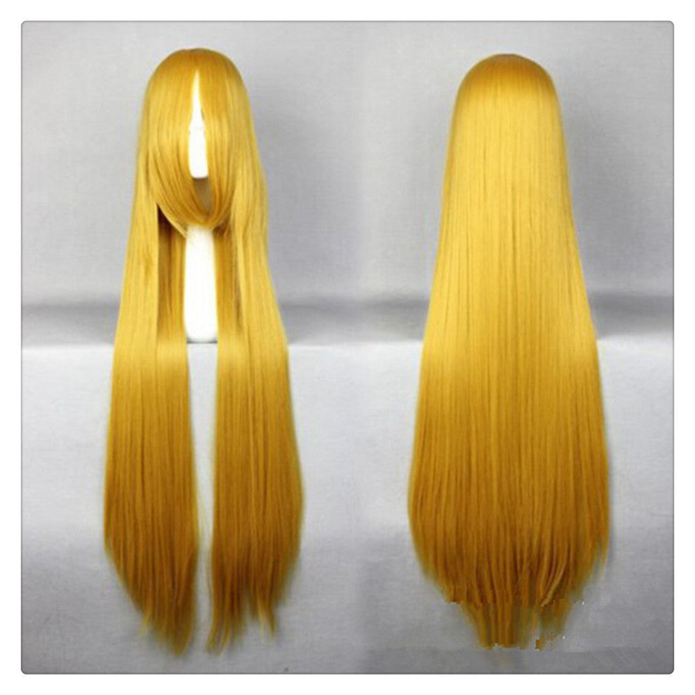 "Women Fashion 100CM/39"" Long straight Cosplay Fashion Wig heat resistant resistant Hair Full Wigs  golden - Mega Save Wholesale & Retail"