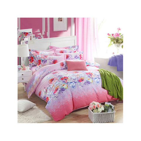 Bed Quilt Duvet Sheet Cover 4PC Set Upscale Cotton Sanded simple but elegant  012 - Mega Save Wholesale & Retail