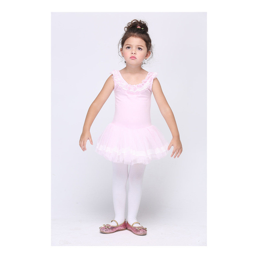 Children Garment Girl Ballet Dancing Dress Diamante Bowknot Kid Ball Gown - Mega Save Wholesale & Retail