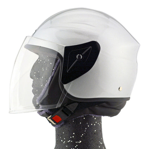 Motorcycle Motor Bike Scooter Safety Helmet 101   silver - Mega Save Wholesale & Retail - 1