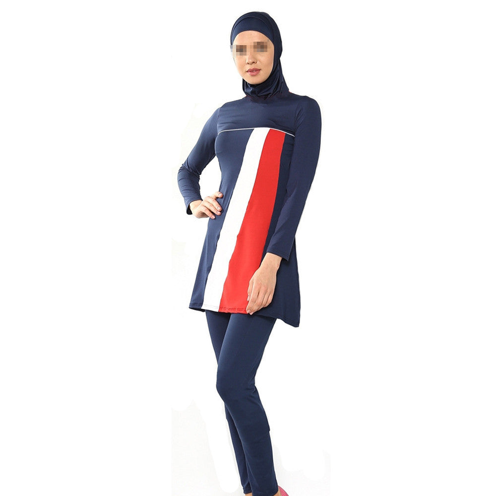 Muslim Woman Beach Swimwear Swimsuit Burqini   sapphire blue  S - Mega Save Wholesale & Retail - 1