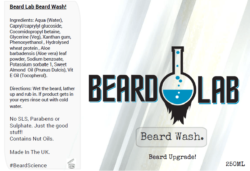 Darwin Beard Wash 250ml - BeardLab Other - Beard Oil UK, Beard Care BeardLab - UK Beard Oil - Beard Products