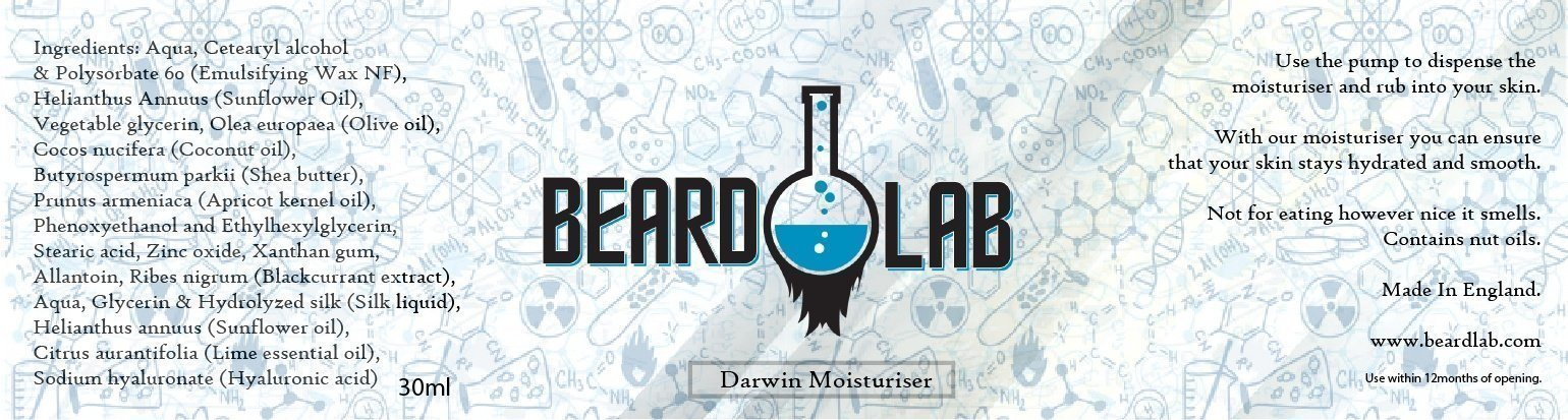 Darwin Moisturiser 30ml - BeardLab  - Beard Oil UK, Beard Care BeardLab - UK Beard Oil - Beard Products