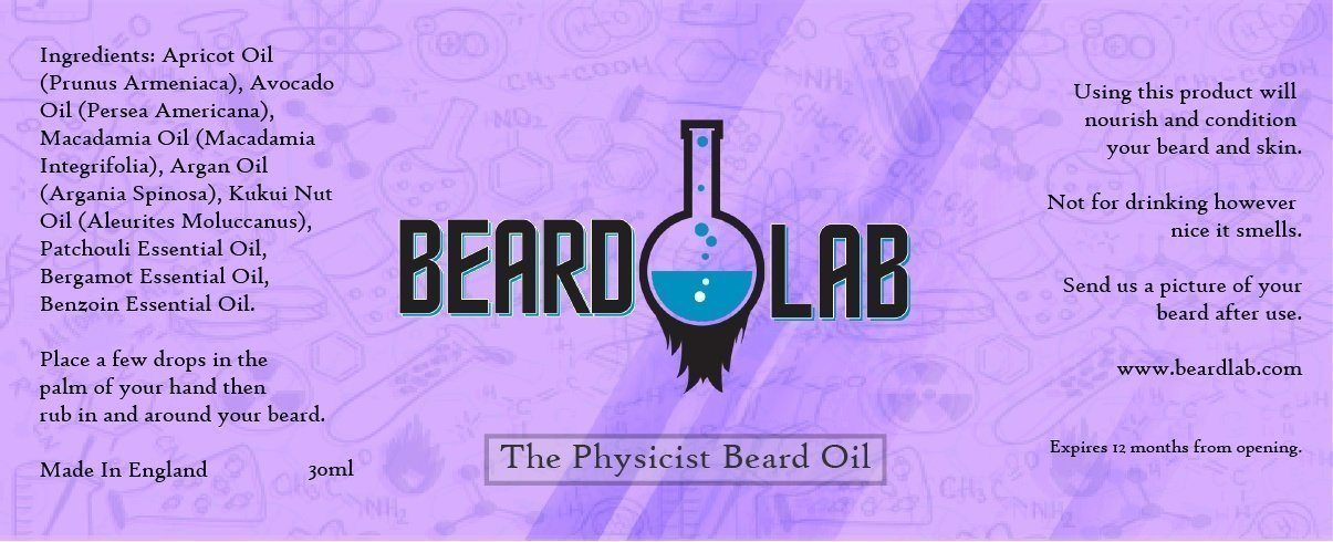 The Physicist Beard Oil 30ml - BeardLab  - Beard Oil UK, Beard Care BeardLab - UK Beard Oil - Beard Products