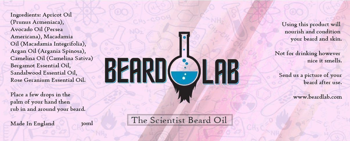 The Scientist Beard Oil 30ML - BeardLab Beard Oil - Beard Oil UK, Beard Care BeardLab - UK Beard Oil - Beard Products