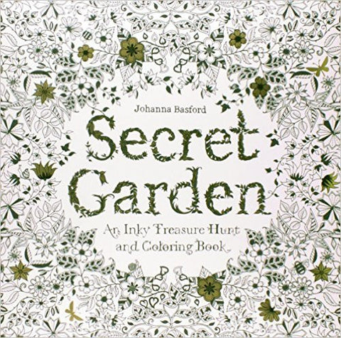 Secret Garden: An Inky Treasure Hunt and Coloring Book by Johanna Basford