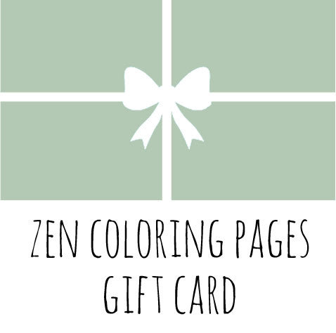 Zen Coloring Pages Gift Cards