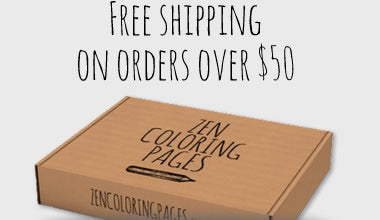 Free shipping when you spend $50 or more on adult coloring pages