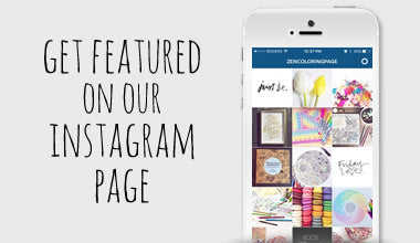 Get featured on the zen coloring pages Instagram feed