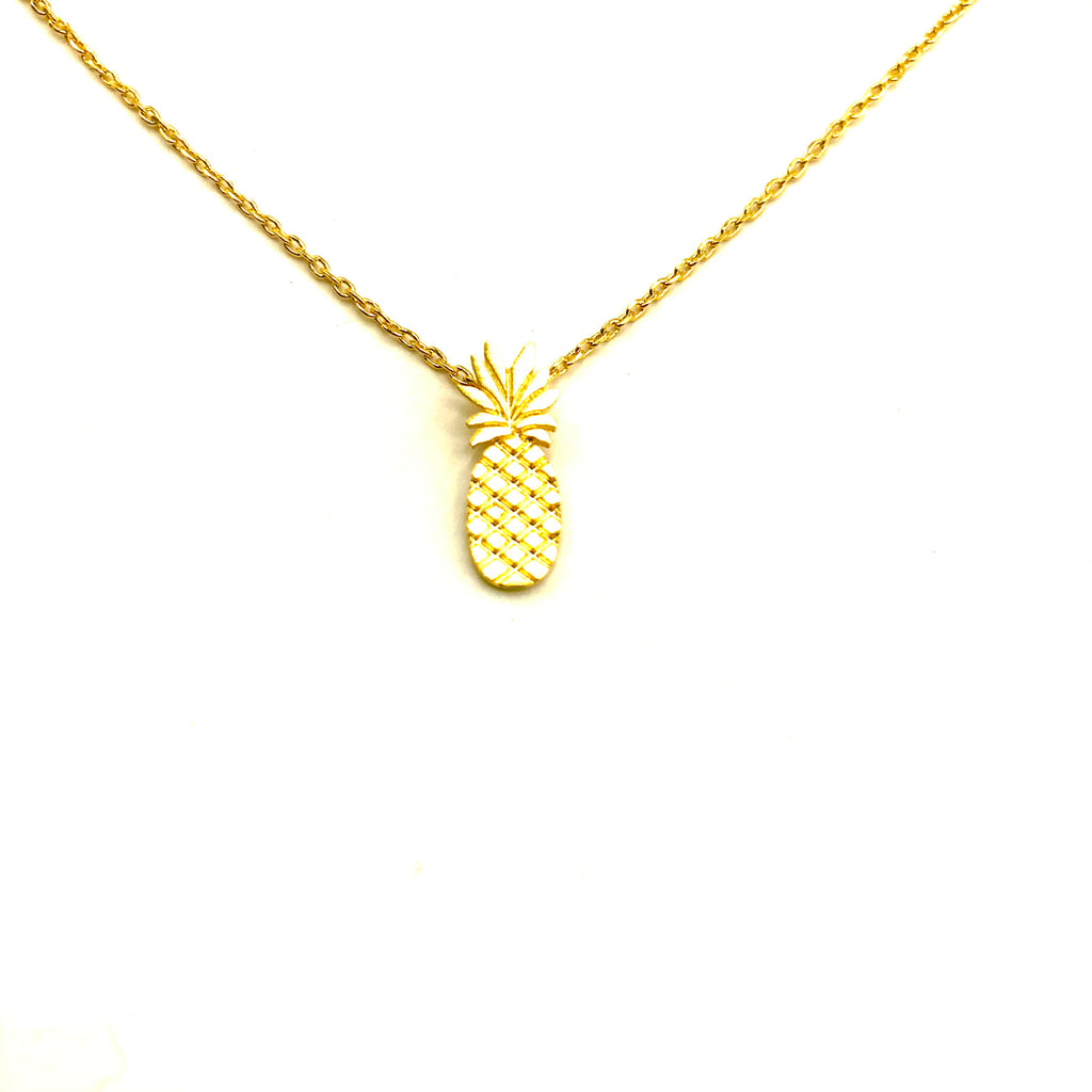 2D pineapple necklace