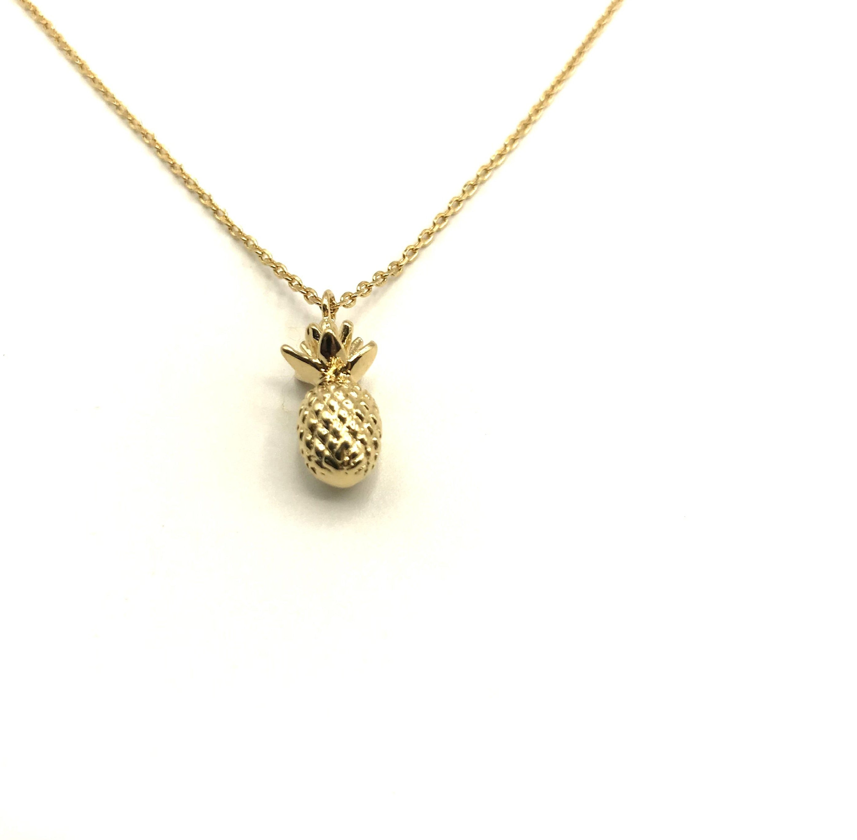 3D pineapple necklace